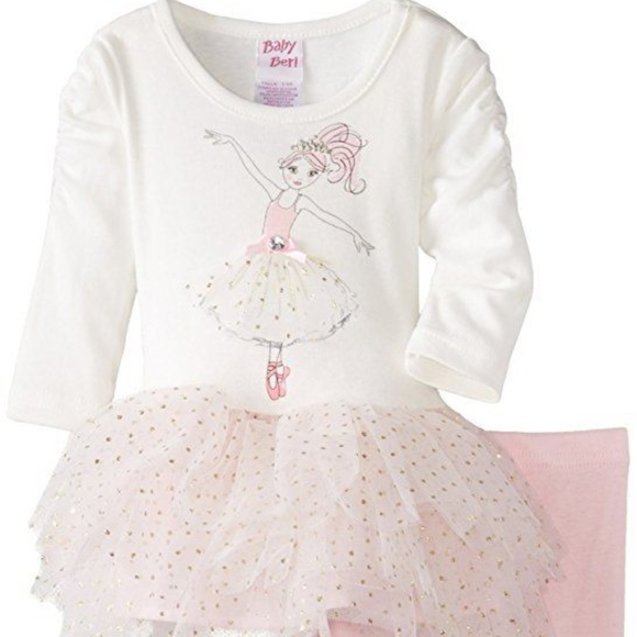 Blueberi Boulevard Other - Baby Girls Ballerina Tutu Legging Set Outfit NB